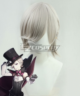 Genshin Impact Lyney Light Grey Cosplay Wig