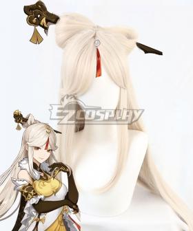 Genshin Impact Ningguang White Golden Cosplay Wig