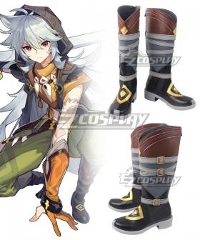 Genshin Impact Razor Brown Shoes Cosplay Boots