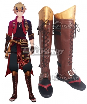 Genshin Impact Tohama Red Shoes Cosplay Boots