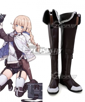 Girls' Frontline 2B14 Brown Shoes Cosplay Boots - A Edition