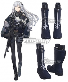 Girls Frontline AK12 Black Shoes Cosplay Boots