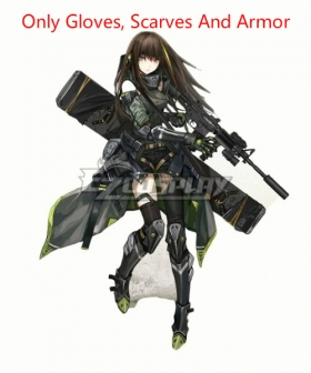 Girls Frontline M4A1 Cosplay Costume - Only Gloves, Scarves And Armor
