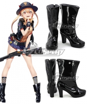 Girls Frontline M870 WinchesterModel Black Shoes Cosplay Boots