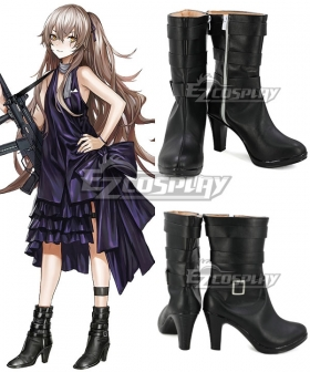 Girls Frontline UMP45 2nd Year Anniversary Skins Black Shoes Cosplay Boots