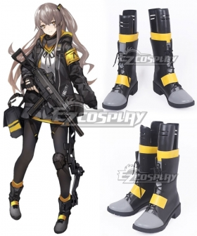 Girls Frontline UMP45 Black Yellow Shoes Cosplay Boots