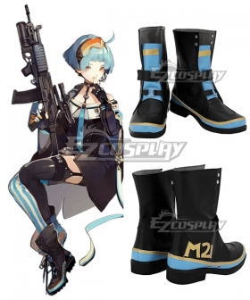 Girls' Frontline Zas M21 Zastava M21 Black Blue Shoes Cosplay Boots