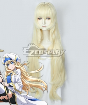 Goblin Slayer Priestess Onna Shinkan Light Golden Cosplay Wig
