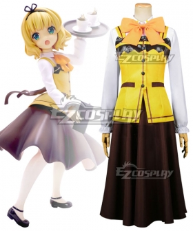 Gochuumon wa Usagi Desu ka? Is the Order a Rabbit? Syaro Kirima Maid Cosplay Costume