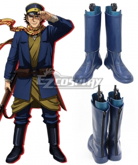 Golden Kamuy Sugimoto Saichi Black Shoes Cosplay Boots