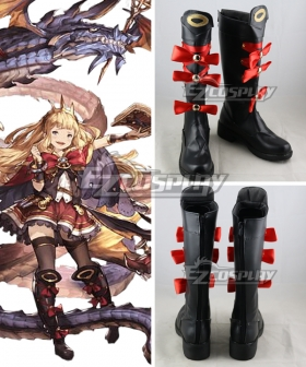 Granblue Fantasy Cagliostro Black Shoes Cosplay Boots