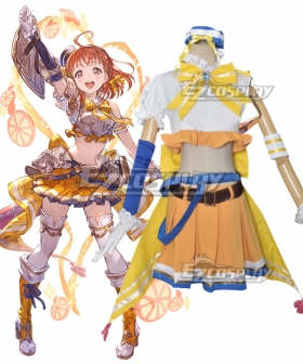 Granblue Fantasy With Lovelive! Love Live!! Chika Takami Cosplay Costume