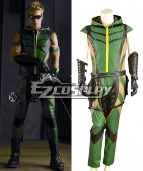 DC Comics Green Arrow Leather Cosplay Costume