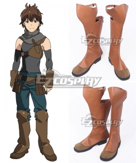 Grimgar of Fantasy and Ash Haruhiro Brown Cosplay Shoes