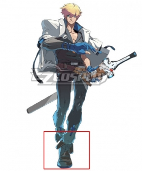Guilty Gear STRIVE Ky Kiske Brown Shoes Cosplay Boots