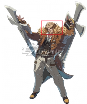 Guilty Gear STRIVE Leo Whitefang Golden Cosplay Wig