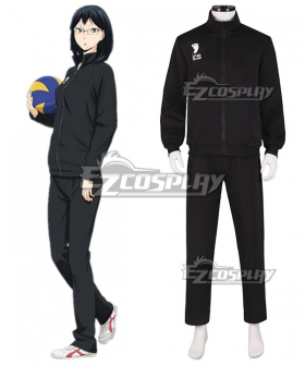 Haikyu!! Cosplay Volleyball Juvenile Black Sportswear Uniform Costume