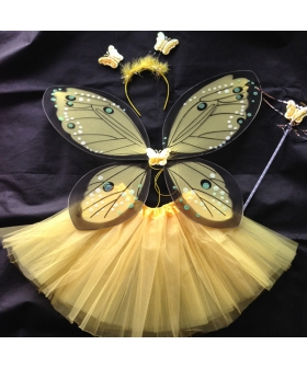 Halloween Kids Costume Butterfly Angel Wings Cosplay Costume