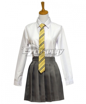 Harry Potter Female Hufflepuff Robe School Uniform Halloween Cosplay Costume - Starter Edition