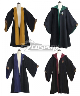 Harry Potter Hogwarts Coat Uniform Gryffindor Hufflepuff Ravenclaw Slytherin Cosplay Costume