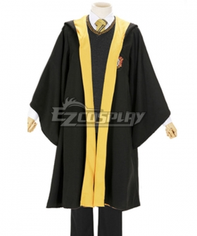 Harry Potter Male Hufflepuff Robe School Uniform Halloween Cosplay Costume