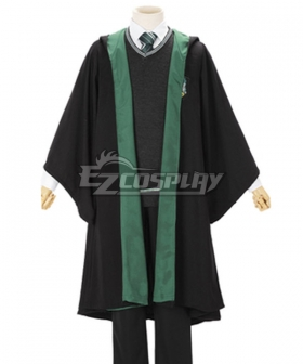 Harry Potter Male Slytherin Robe School Uniform Halloween Cosplay Costume