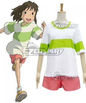 Hayao Miyazaki Sen to Chihiro no Kamikakushi Spirited Away Ogino Chihiro Cosplay Costume