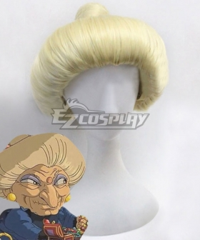 Hayao Miyazaki Spirited Away Yubaba Light Golden Cosplay Wig
