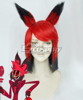 Hazbin Hotel Alastor Red Cosplay Wig