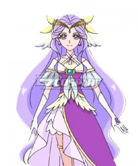 Healin' Good Pretty Cure Fuurin Asumi Purple Cosplay Wig