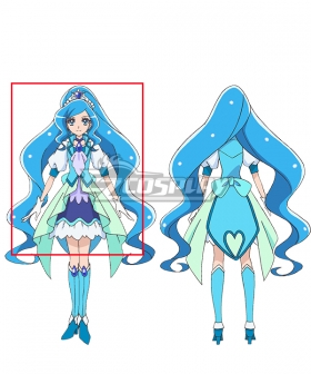 Healin' Good Pretty Cure Sawaizumi Chiyu Cure Fontaine Blue Cosplay Wig