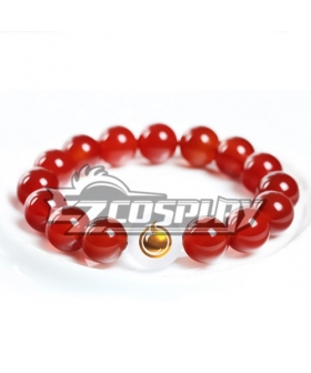 Hell Girl Enma Ai Red Agate Crystal Bracelet