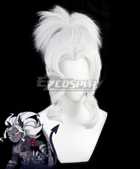 Helltaker Judgement Silver Cosplay Wig