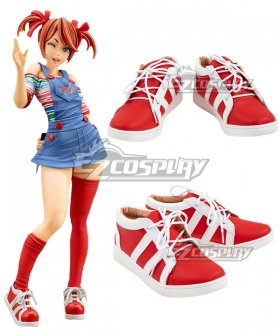Horror Bishoujo Child's Play Chucky Female Halloween Red Cosplay Shoes