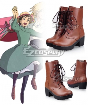 Howl's Moving Castle Sophie Hatter Brown Cosplay Shoes