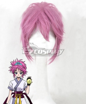 Hunter X Hunter Machi Komacine Pink Cosplay Wig