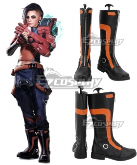 Hyper Scape Mint Black Shoes Cosplay Boots