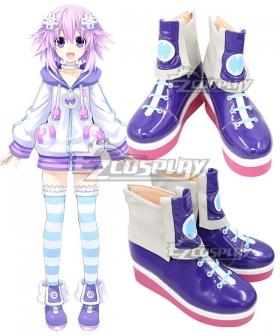 Hyperdimension Neptunia Neptune Purple Shoes Cosplay Boots
