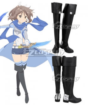Itai no wa Iya nano de Bōgyoryoku ni Kyokufuri Shitai to Omoimasu.BOFURI: I Don't Want to Get Hurt, so I'll Max Out My Defense. Risa Shiramine Sally Black Shoes Cosplay Boots