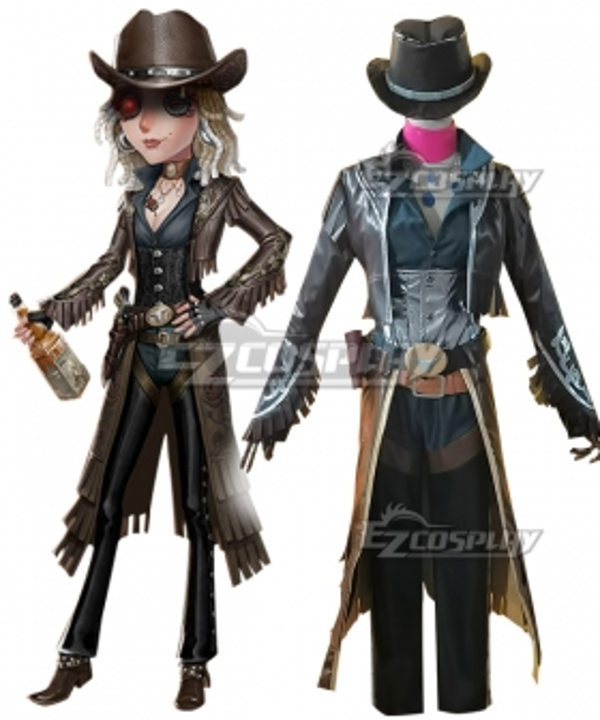 Identity V Barmaid Demi Bourbon Black Rose Halloween Cosplay Costume