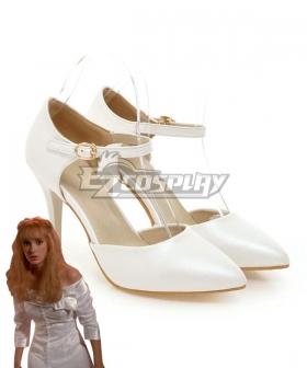 Identity V Edward Scissorhands Kim Boggs White Cosplay Shoes