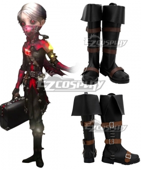Identity V Embalmer Aesop Carl Exorcist Halloween Black Shoes Cosplay Boots