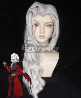 Identity V Photographer Joseph Desaulniers Bloody Sword White Halloween Cosplay Wig