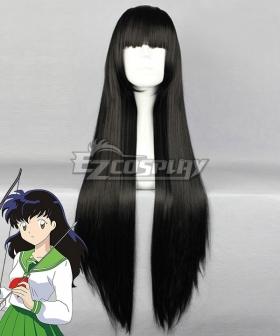 Inuyasha Kagome Higurashi Black Cosplay Wig