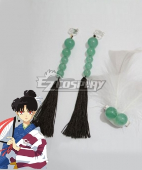 Inuyasha Kagura Headwear And Earing Cosplay Accessory Prop