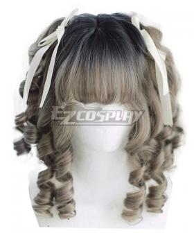 Japan Harajuku Lolita Series Baroque Gray Cosplay Wig