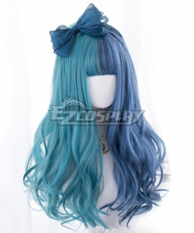 Japan Harajuku Lolita Series Blue Green Curly Cosplay Wig