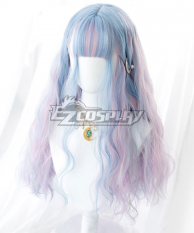 Japan Harajuku Lolita Series Blue Pink Cosplay Wig