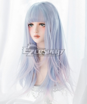 Japan Harajuku Lolita Series Blue Pink Long Cosplay Wig