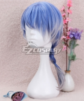 Japan Harajuku Lolita Series Blue White Braid Cosplay Wig-Only Wig